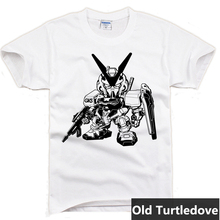 Gundam Game O-neck Casual t-shirts Shirt Sleeve For Men T-shirt for Gameplayer Man Woman T Shirt No 0001