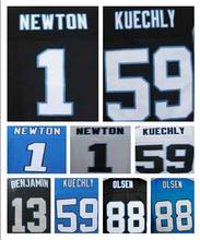 Men's 1 Cam Newton Jersey Elite 59 Luke Kuechly Jersey,Best quality 13 Kelvin Benjamin 88 Greg Olsen stitched(China (Mainland))