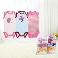 One piece  Baby Boy Baby Girl sleeveless  Onesie  bodysuit infant creeper summer clothes vest bodysuit(China (Mainland))