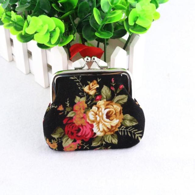 Новое монеты кошельки горячих женщин леди ретро старинные цветок маленький кошелек ...