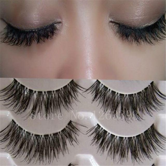 K03Transparent Bagunçado Cruz Grosso Natural Falso Pestanas Falsas Eye Lashes Maquiagem Profissional Dicas Patudo Longos Cílios Falsos