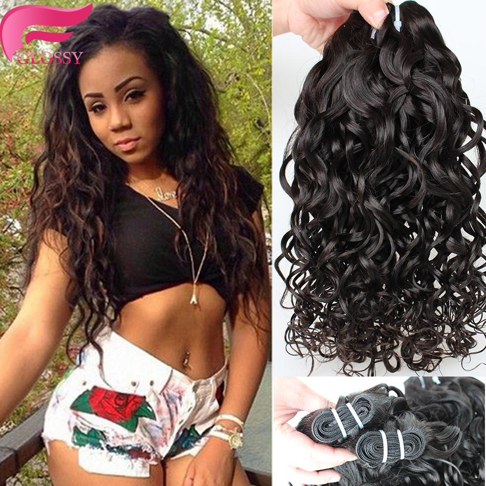 7A Virgin Brazilian Water Wave Hair Weave 4pcs/Lot Brazilian Virgin Hair Wet And Wavy Human Hair Weave Bundles Rosa Queen Hair