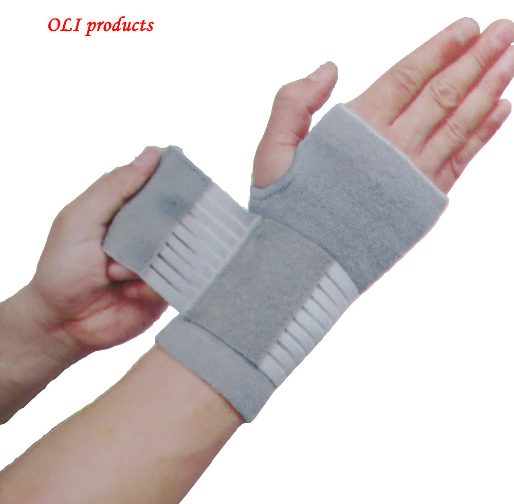 Professional elastic sports safety carpal tunnel tennis wrist bandage brace support free shipping #ST6614(China (Mainland))
