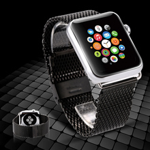 Stainless Steel Band for Apple Watch 38mm 42mm WatchBand Bracelet Strap for Apple Watch Sport Edition 42mm Sliver and Black