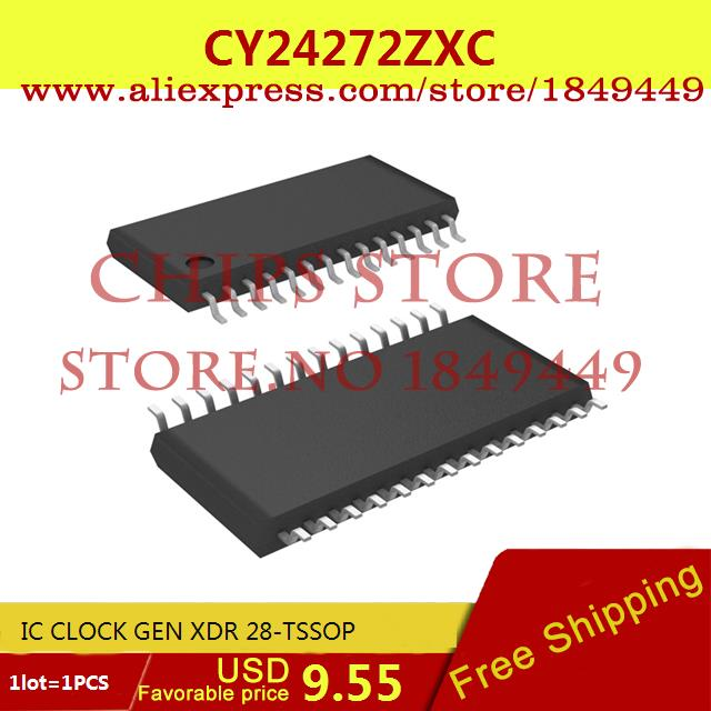Free Shipping Diy Kit CY24272ZXC IC CLOCK GEN XDR 28-TSSOP 24272 CY24272 1PCS(China (Mainland))