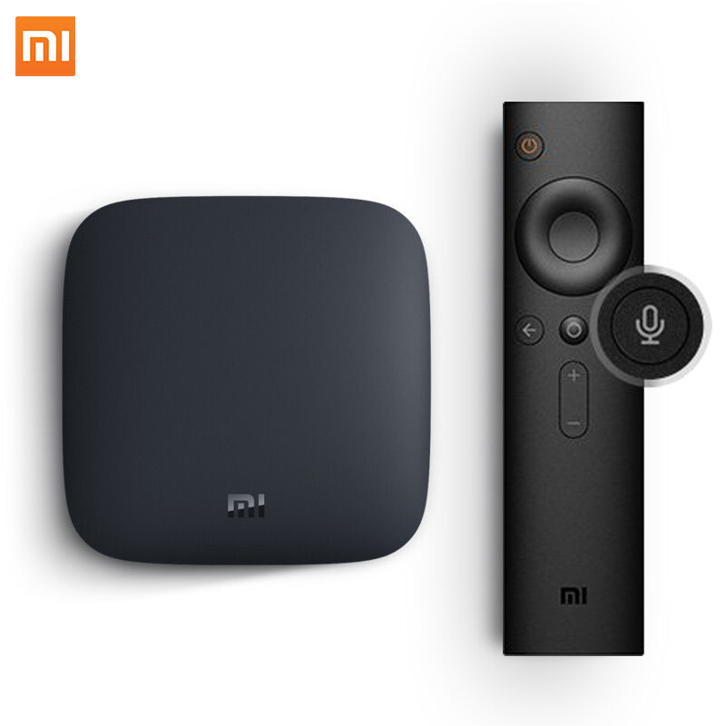 Global Xiaomi Mi TV Box 3 Android 6.0 Smart 4K Cortex-A53 WiFi Bluetooth 8GB H.265 Set-top Sling Youtube Netflix 4K DTS Dolby(China (Mainland))