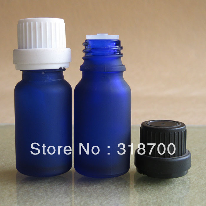 Free shipping - 200/lot DIY 10ml frost blue essential oil bottle with tampe evident cap,10cc frost blue essential oil container<br><br>Aliexpress