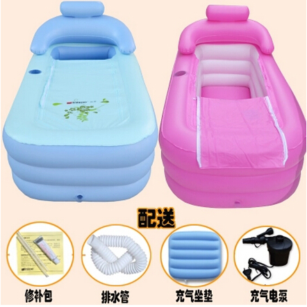2016 Limited Rushed Inflatable Bathtub Adult Spa Folding Portable Bathtub Inflatable Bath Tub With Cushion + Electric Pump(China (Mainland))