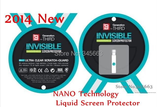 100pcs DHL Free Shipping Wholesale Invisible NANO Technology Liquid Screen Protector NANO Shield for Smartphone and Tablet(China (Mainland))