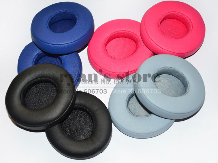 Replacement Ear Pads Cushion pillow for Beat solo2 solo2.0 solo 2 2.0 headphones black gray blue pink(China (Mainland))