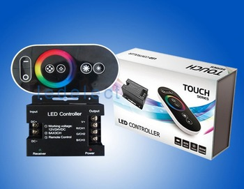 Wireless RF LED RGB Touch Controller Remote Control Dimmer 12-24V DC 18A 432W 6A*3CH Color Packaging