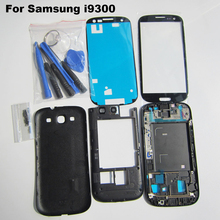 White/Blue/Red/Black Original Replacement Parts Full Housing Case Cover For Samsung Galaxy S3 i9300 + Outer Glass + Tool Kits(China (Mainland))