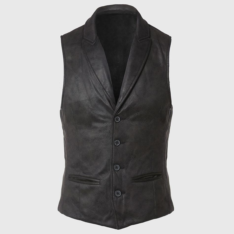 Leather Men Waistcoat Motorcycle New Winter Warm Sleeveless Cotton Jacket Vest Outdoor Fashion Body Warmers Fleece Rock BlackОдежда и ак�е��уары<br><br><br>Aliexpress