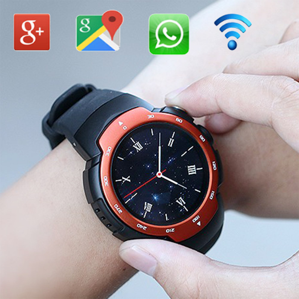 LEM3 Smart Watch Phone Android 5.1 OS MTK6580 Quad Core Support SIM Card Voice GPS Map 3G WiFi APP Downloading(China (Mainland))