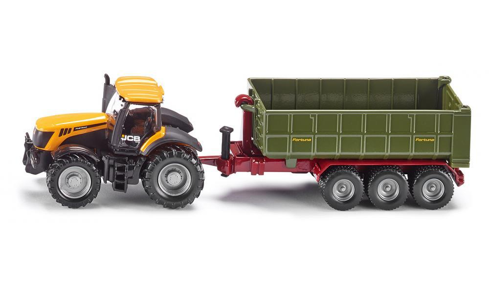 siku 1855 Farm Tractor JCB with hook-lift trailer alloy metal model car toy child gift collection(China (Mainland))