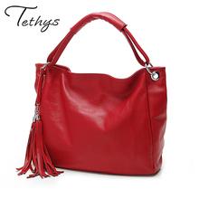 Buy TETHYS 2017 New Leather Bag Women Handbags Tassel Female Bag Crossbody Women's Shoulder Bags Ladies Casual Tote Sac Maine for $13.92 in AliExpress store