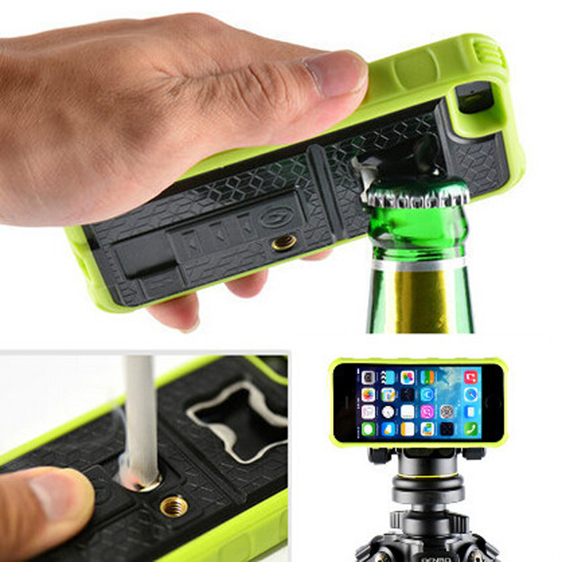 Fetoo Four in one multifunction tool Camera Bracket /Cigarette Lighter/ Bottle Opener / Phone Case Cover for Apple iPhone 5 P35(China (Mainland))