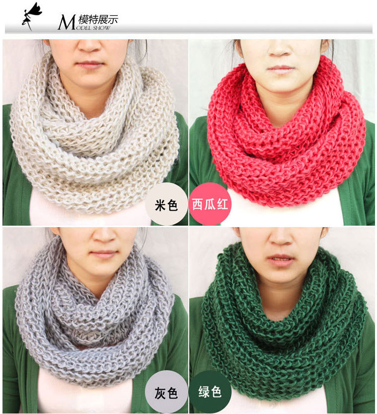 Knitting Pattern Infinity Scarf Hood : free shipping fashion infinity scarf knitting winter ...