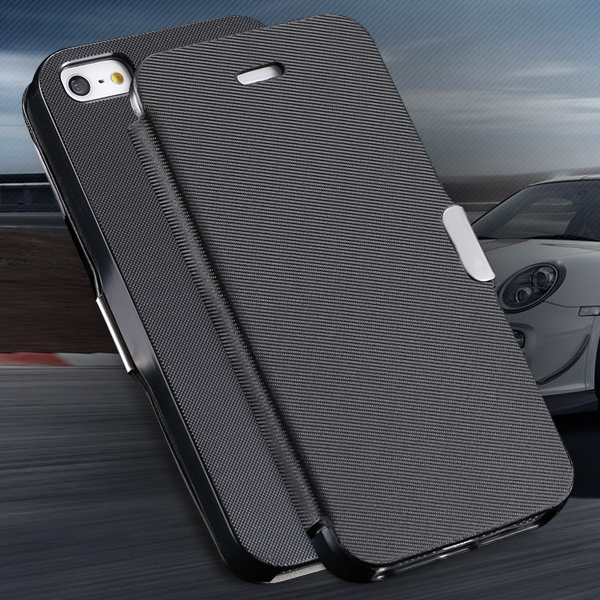 Super Thin Flip Leather Case For iPhone 4 4s Ultra Slim Cloth Pattern With Magnetic Buckle Phone Cover For Apple iPhone 4 4s 4g(China (Mainland))