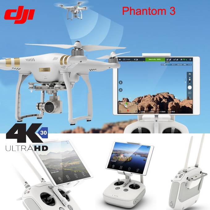 DJI Phantom 3 Advanced Professional quadcopter RC Drone Quad Copter RTF GPS FPV With 4K 1080P HD Camera EMS Free Shipping(China (Mainland))
