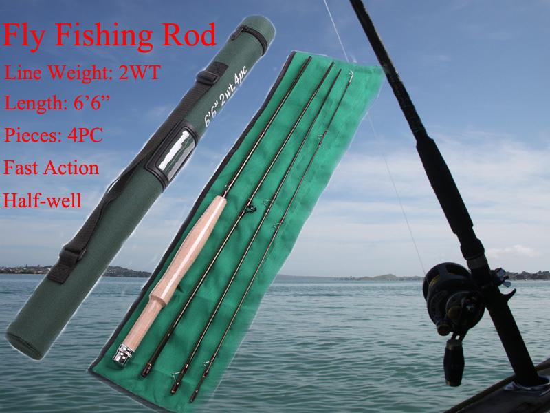 High Quality Super Light Brand New Fly Fishing Rod, 6.6FT 2WT 4PCS SK Carbon Fiber Super Light Fly Rod(China (Mainland))