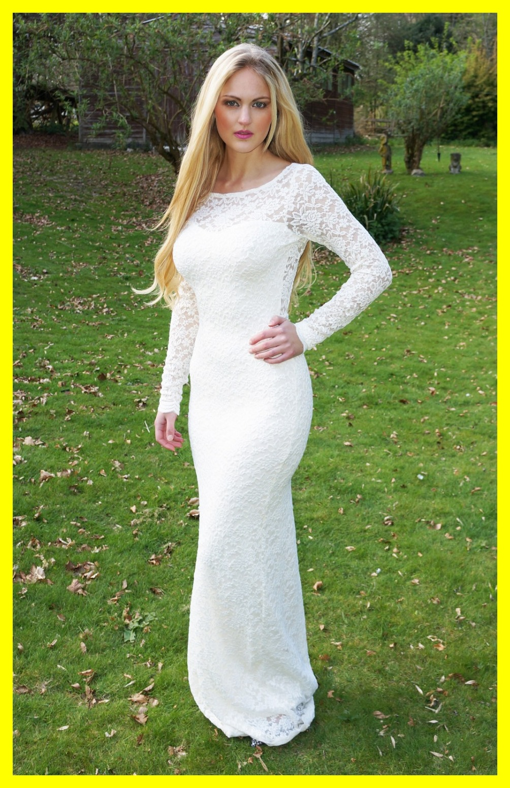 Beach wedding dresses uk long sleeved dress champagne for Petite dresses for wedding