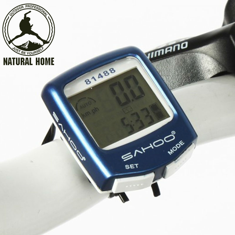 [NaturalHome] Brand MTB Waterproof Bike Bicycle Computer 14 Functions Digital Cycling Speedometer Cycle Computer Odometer(China (Mainland))