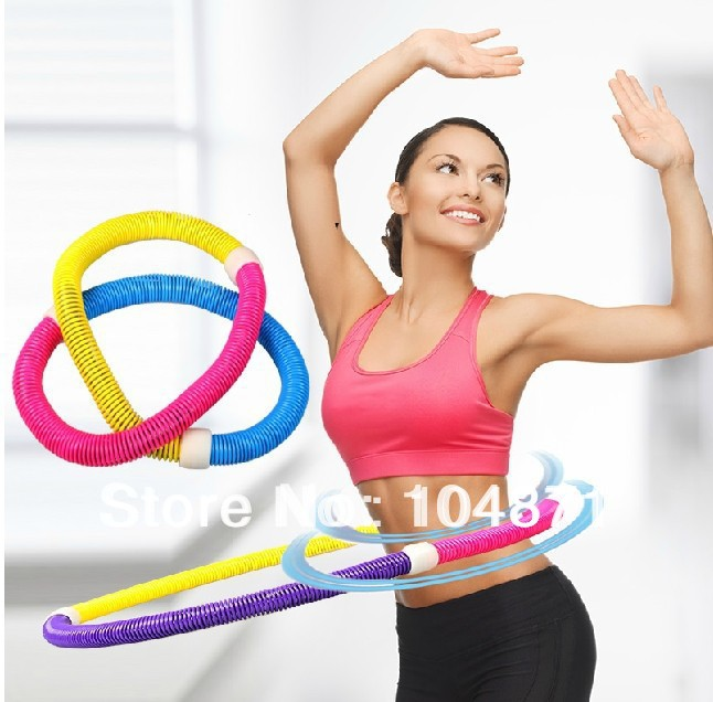 Weighted sports Hula Hoop for weight Loss - No Ridege, Travel Easy and Easy to Assemble/disassemble(China (Mainland))