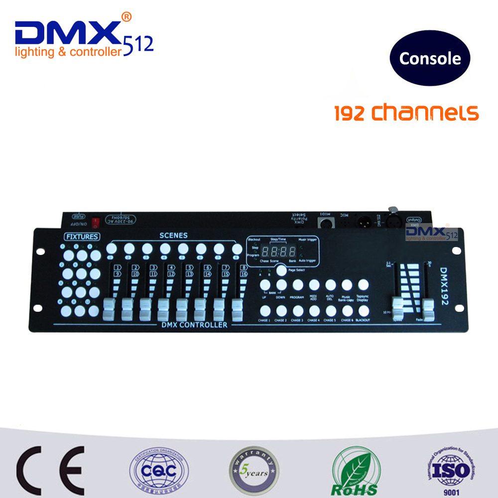 DHL Free shipping factory wholesale 192CH DMX controller console DJ lighting controller dj controller console 192 dmx controller(China (Mainland))