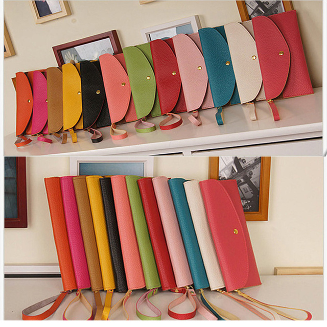 2012 candy color wallet female long design card holder coin purse handle bag women's small bags free shipping