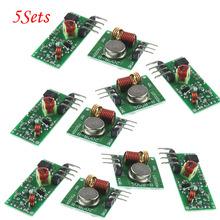 5Sets 433Mhz RF transmitter receiver Module link kit ARM/MCU WL diy 433mhz wireless - Shenzhen icstation Co. Ltd. store