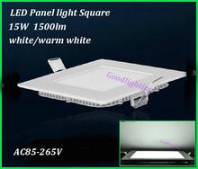 AC85-265V Square led ceiling light 15W 1500lm  white /warm white acquarium led panel light(China (Mainland))