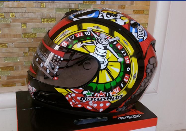 Brand malushun motorcycle helmet Jorge Lorenzo full face helmet motoGP racing helmet moto casco motociclistas capacete DOT(China (Mainland))