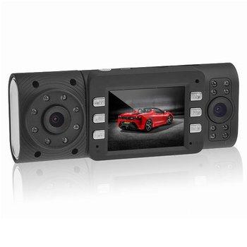 Free Shipping 2.0 inch Screen 1080P Dual Lens Infrared 16-LED Night Vision Driving Recorder Car Camera Black, #SKU0499