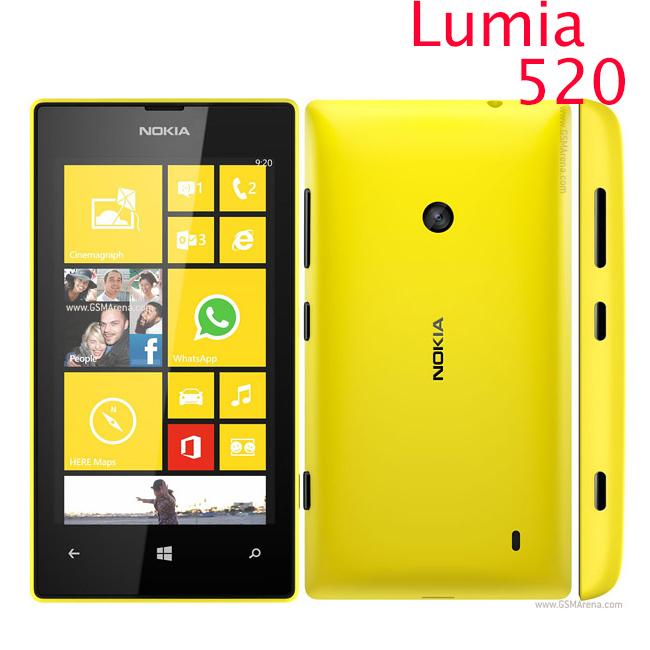 "Original 520 phone Nokia Lumia 520 cell phone Dual core 8GB ROM 5MP GPS Wifi 4.0"" IPS unlocked windows phone Refurbished(China (Mainland))"
