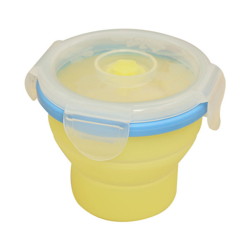 1PCS-Round-Silicone-Folding-Microwave-Lunch-Boxs-Bento-Eco-friendly-Food-Container-200ml-B0 (2)