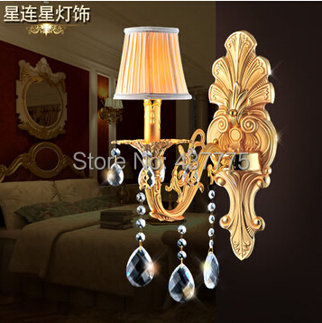 Luxury Candle Wall Sconces : Ou crystal wall lamp luxury candle light sitting room the bedroom of corridor restaurant light ...