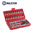 New 46PC Socket and Bit Set Spanner Ratchet Hand Tools Set For Household Auto Repairing Promotion