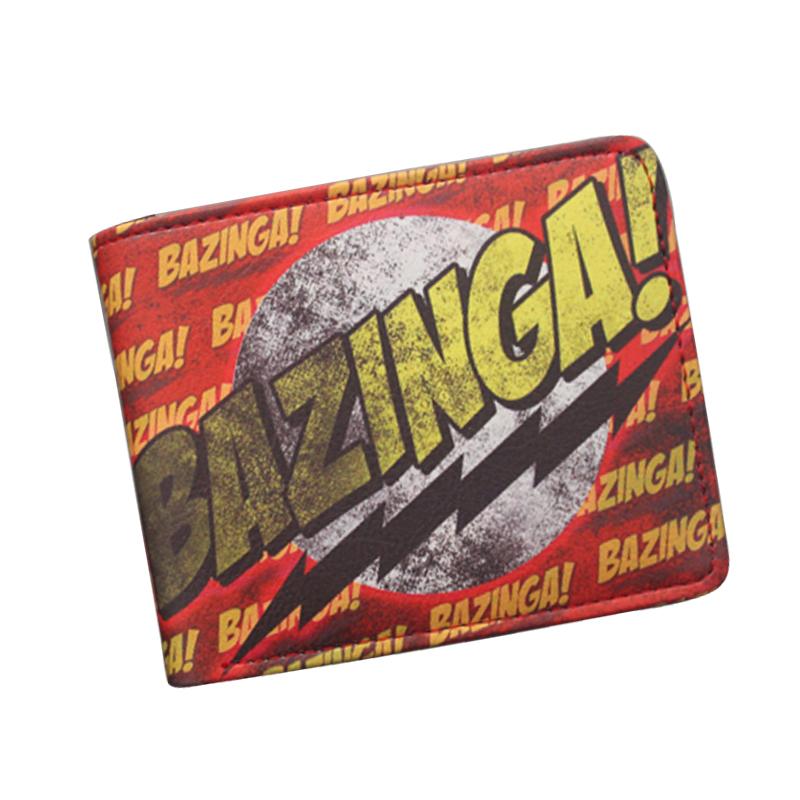 The Big Bang Theory Sheldon BAZINGA Wallet Classic Letter Prints Leather Women Wallets Card Holder Purse Vintage Designer Wallet