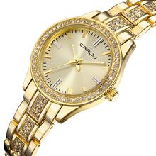 Buy Brand Luxury Women Watches Ladies Casual Quartz Watch Female Clock Silver Stainless Steel Bracelet Dress Watch relogio feminino for $13.99 in AliExpress store