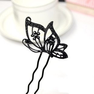 Free ship!20pc!Retro butterflies fluttering flash diamond flower hairpin / Hair Accessory / hair clasp/2model choice