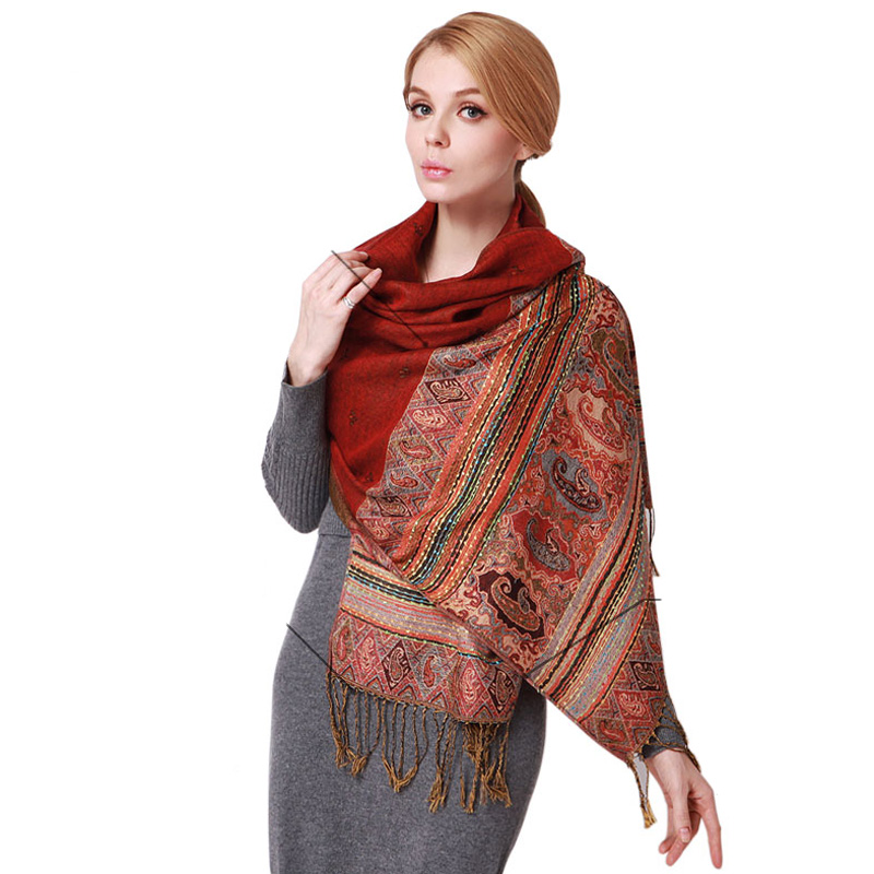 2015 Ethnic shawl new winter scarf shawl classic bohemian scarves cotton tassel scarves for women(China (Mainland))