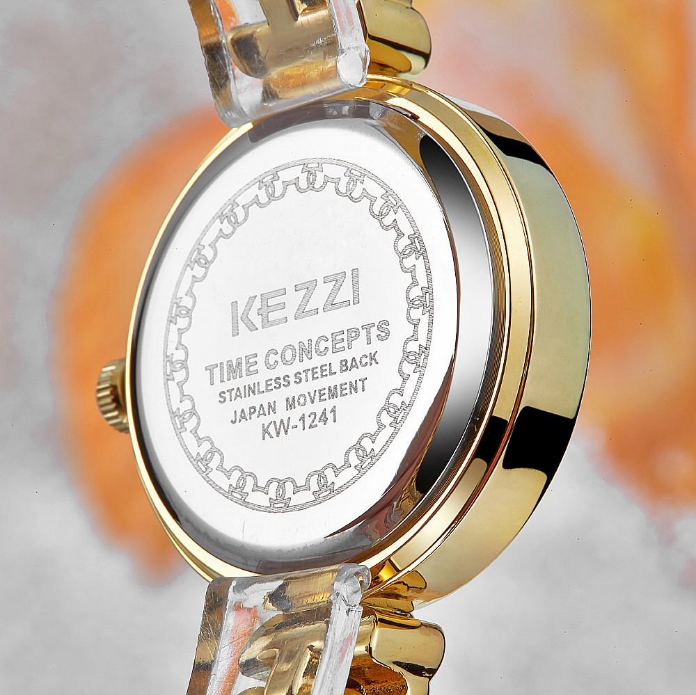 KEZZI KW1241 Люксовый Бренд Горный Хрусталь Часы Из Нержавеющей Стали Женщины Браслет Кварцевые Часы Дамы Наручные Часы Relogio Feminino KZ96