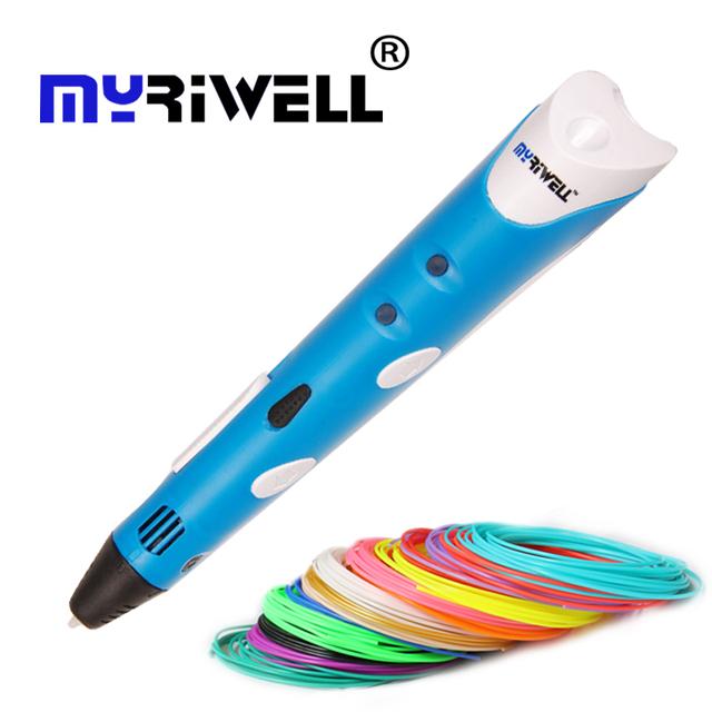 1-я ручка 3d модель 1.75 мм ABS Smart 3D Ручка Myriwell Рисунки Pen + Адаптер Творческий Подарок Для Детей Дизайн высокого qualit PaintingPrinting