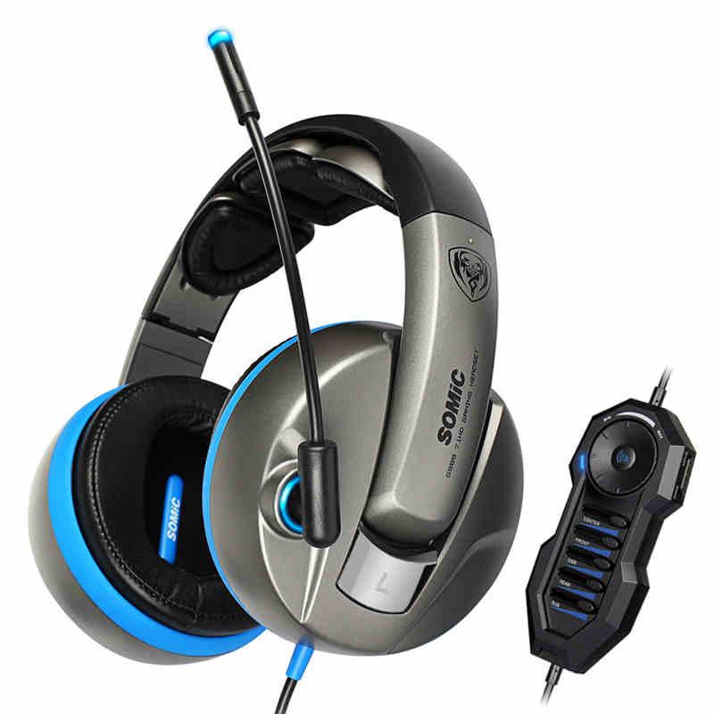 Somic-G989HD physical shock 7.1 USB gaming headset professional gaming headset computer, 10 unit design(China (Mainland))