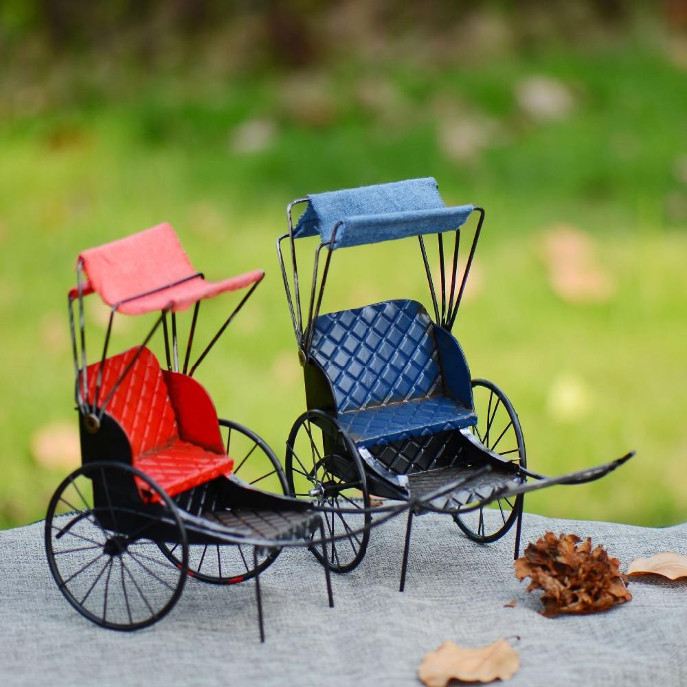 Free Shipping Retro Do The Old Results Rickshaw Model Big Shanghai Classic Prop Home Furnishing Decoration(China (Mainland))
