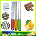 3pcs Three different Blades Stainless Microplane Cheese Lemon Chocolate Grater Lemon Zester Free shipping