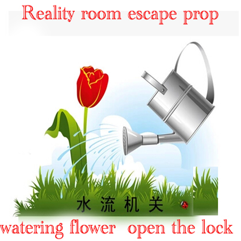 Reality Room Escape props pour water watering Water flow trigger open lock can be open mysterious room<br><br>Aliexpress