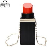 Women Bag Lipstick Shape Women Clutches Bag Fashion Women Handbag Tote Luxury Evening Bag For Party Women Messenger Bags C0280(China (Mainland))