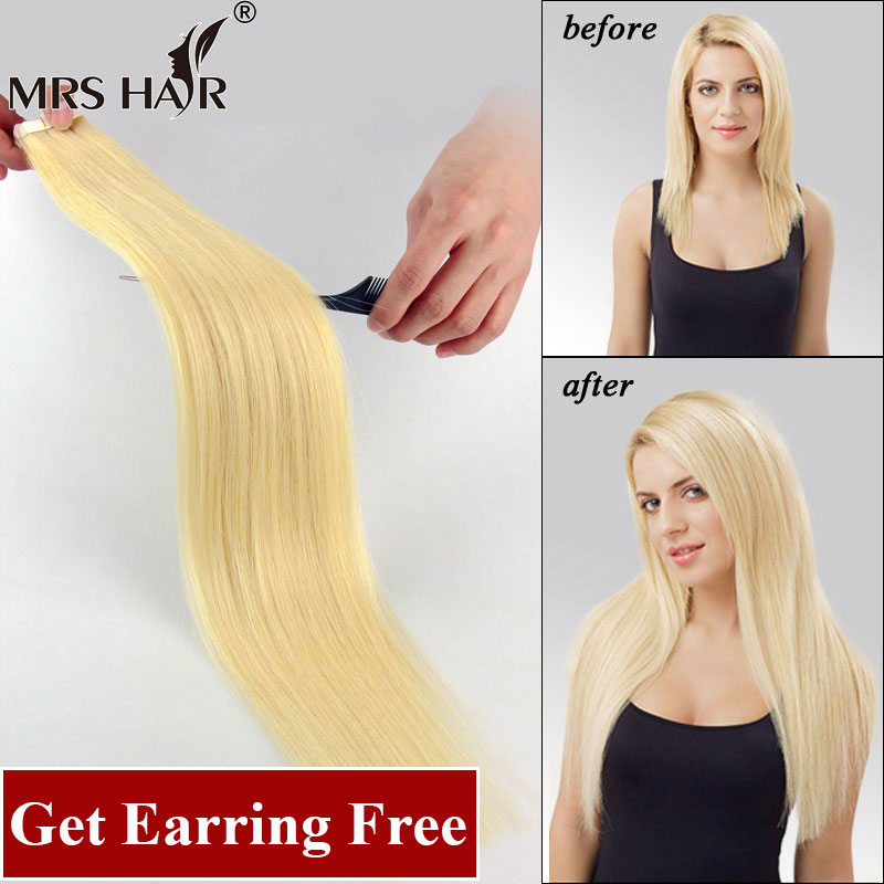 """Tape In Human Hair Extensions 20pcs Adhesive Skin Weft Hair Extensions 16"""" 18"""" 20"""" 22"""" Double Sided Remy Tape Hair Promotion(China (Mainland))"""